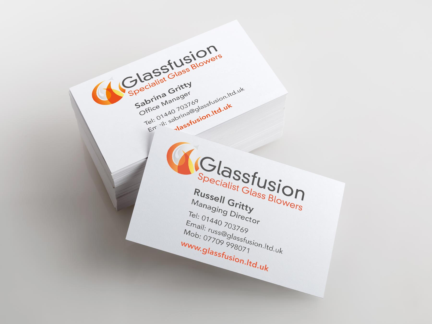 Glass Fusion business cards