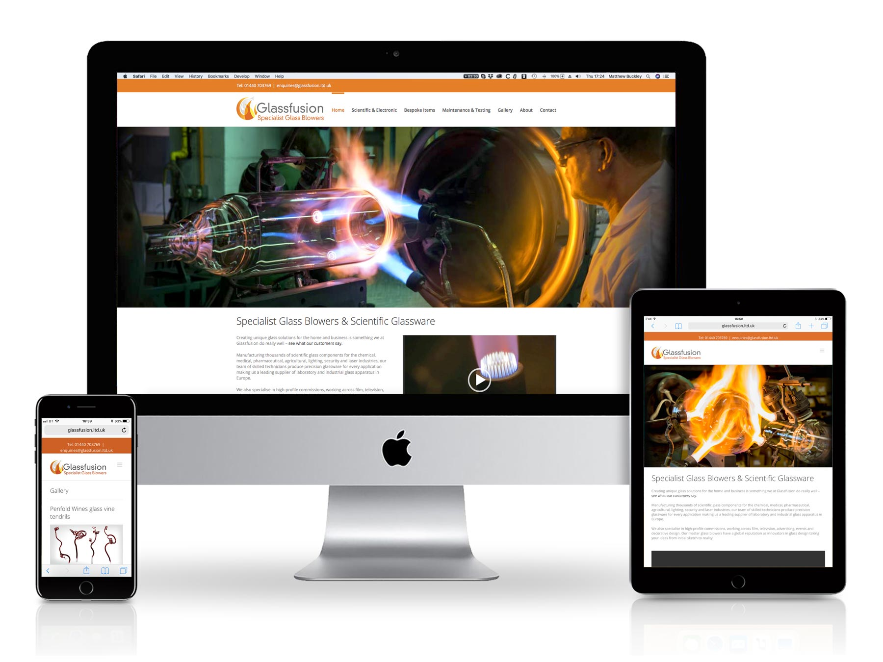 Glass Fusion Website