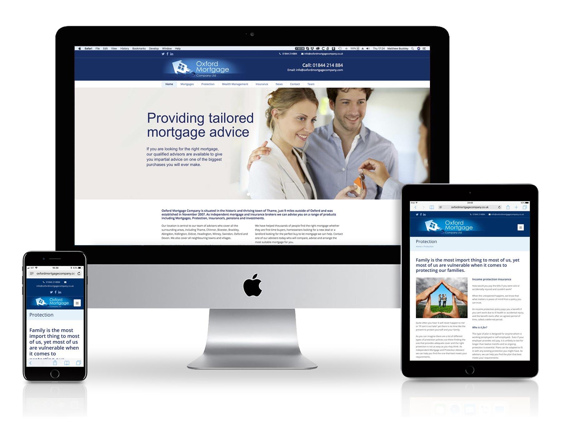 Oxford Mortgage Company website